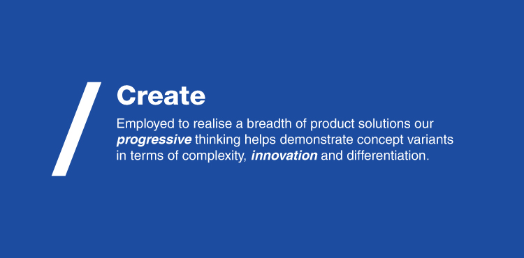 Banner image for the create phase in the  product design process