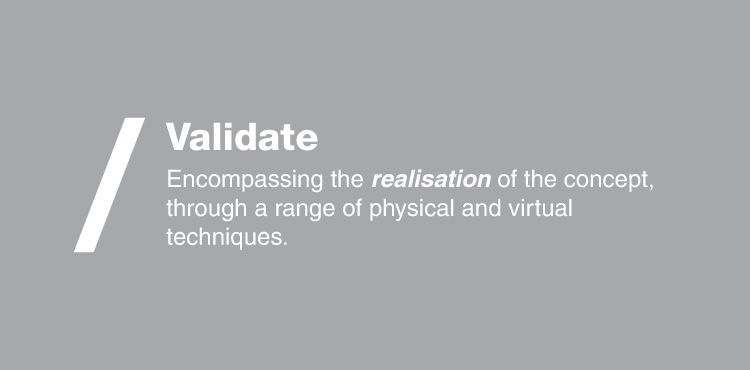 Banner image for the validate stage in the product design process