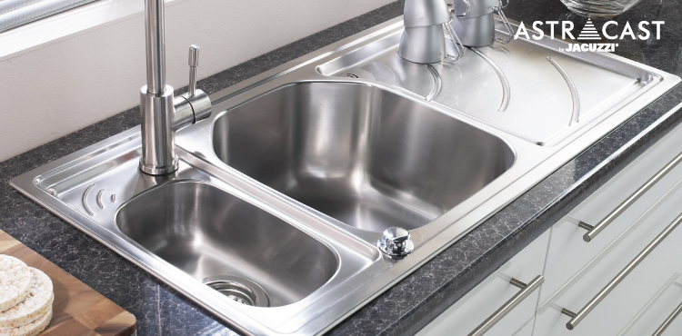 Astracast, Jacuzzi, kitchen sink, sink accessories, echo sink