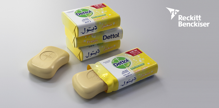 Soap bar, dettol, Reckitt Benckiser, stacking