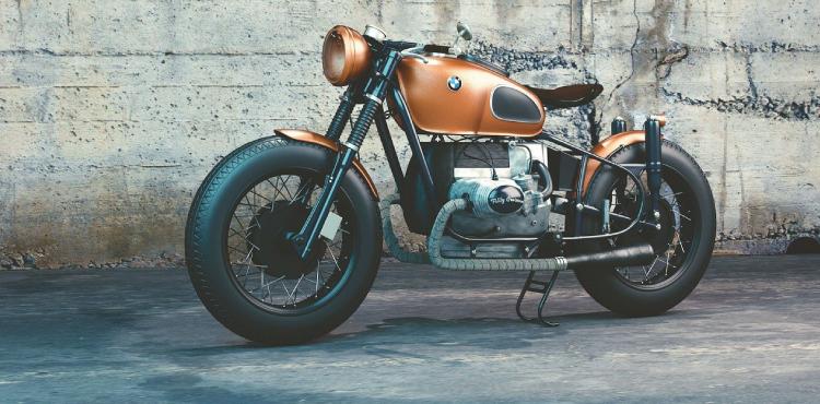 vintage BMW motorbike